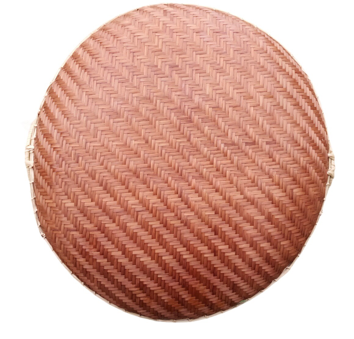 Circle basket Bam boo Dark Brown