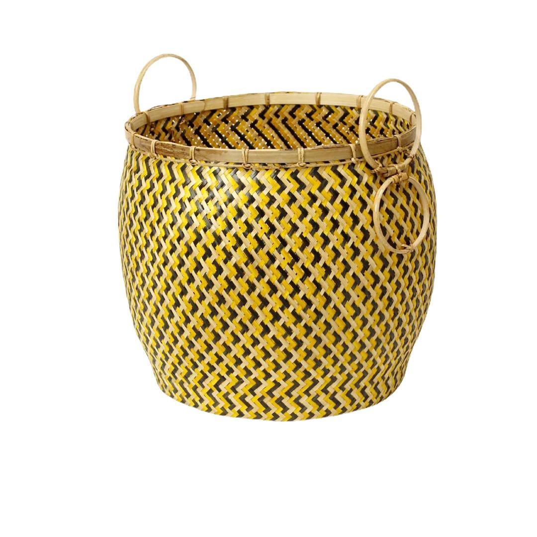 'Pot'  Yellow& Balck & Natural