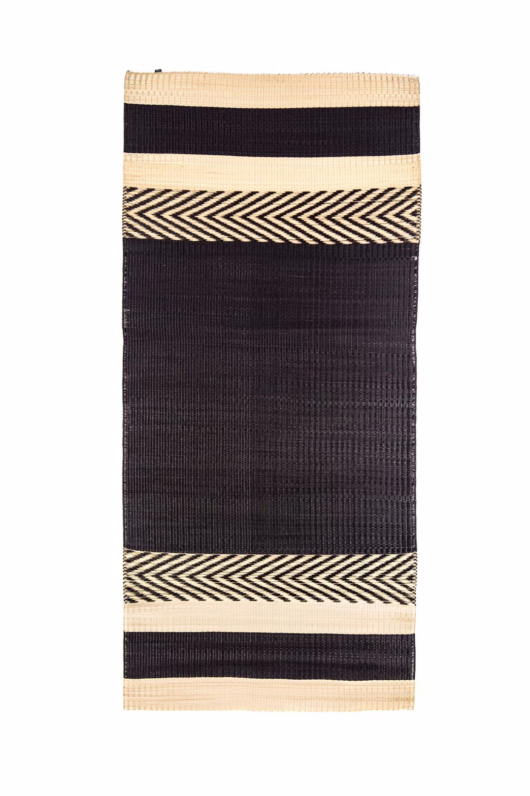 'Mini stripe' mat Black
