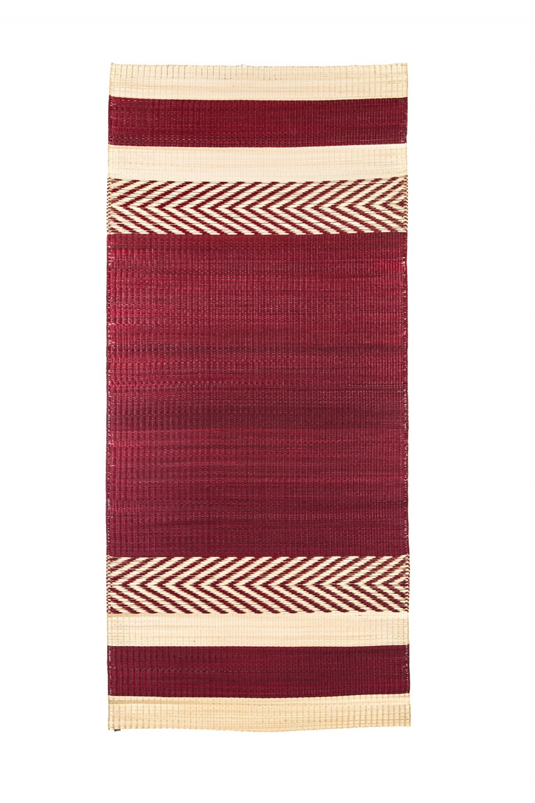 'Mini stripe' mat Red