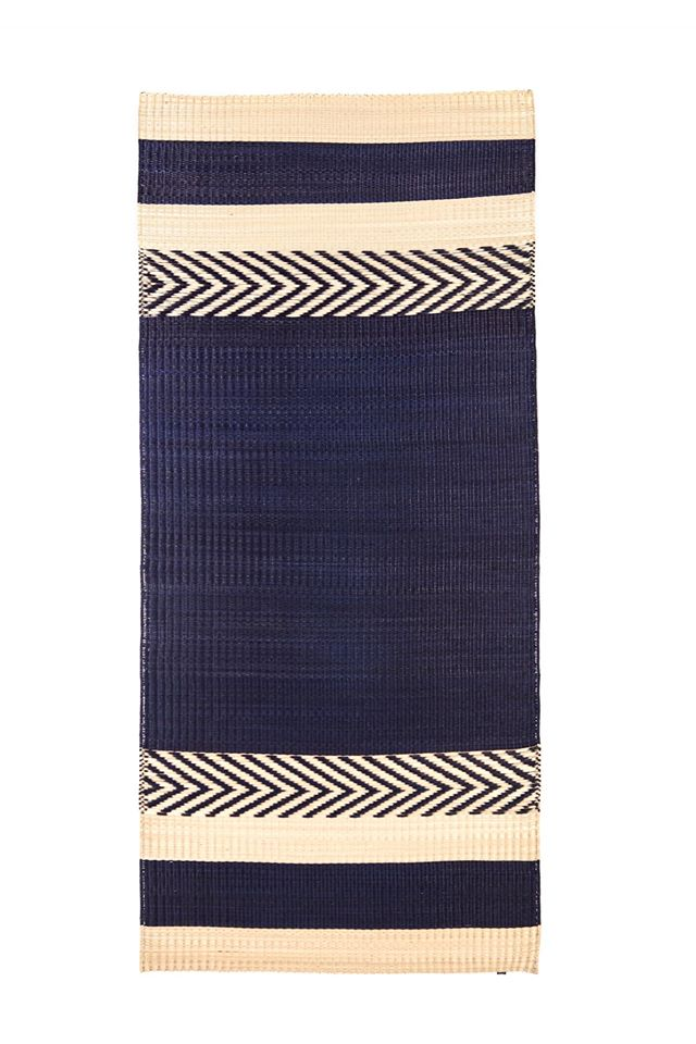 'Mini stripe' mat Navy Blue