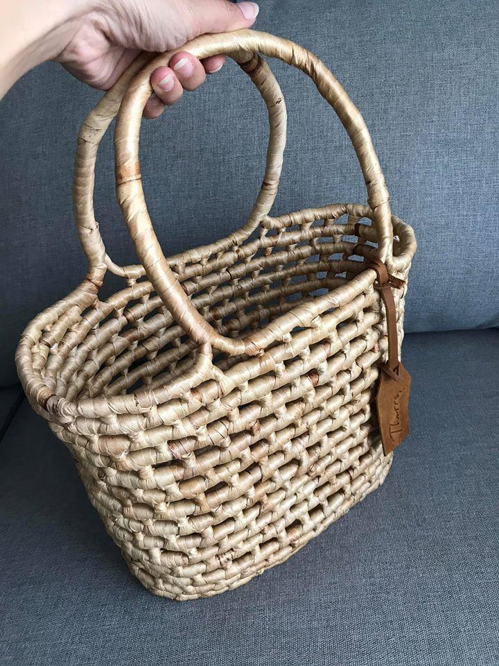 'Tied' bag Natural
